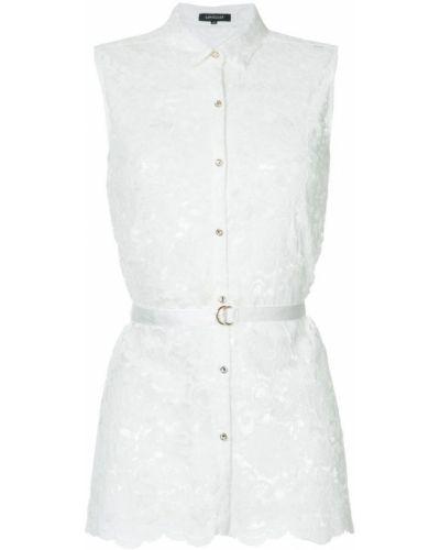 Блузка без рукавов гипюровая белая Loveless