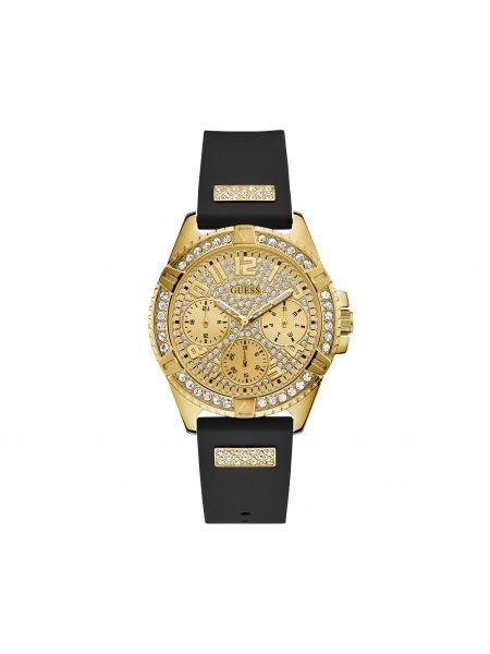 Złoty zegarek - czarny Guess