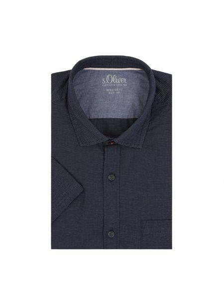 Koszula krótkie z krótkim rękawem z kołnierzem codziennie S.oliver Red Label