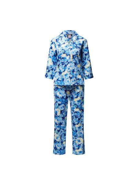 Niebieska spodni piżama bawełniana Lauren Ralph Lauren