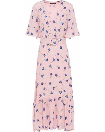 Платье миди с пайетками - розовое Markus Lupfer