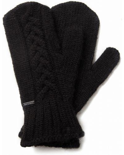 Перчатки шерстяные черные Finn Flare