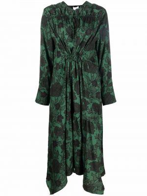 Шелковое платье макси - зеленое Christian Wijnants