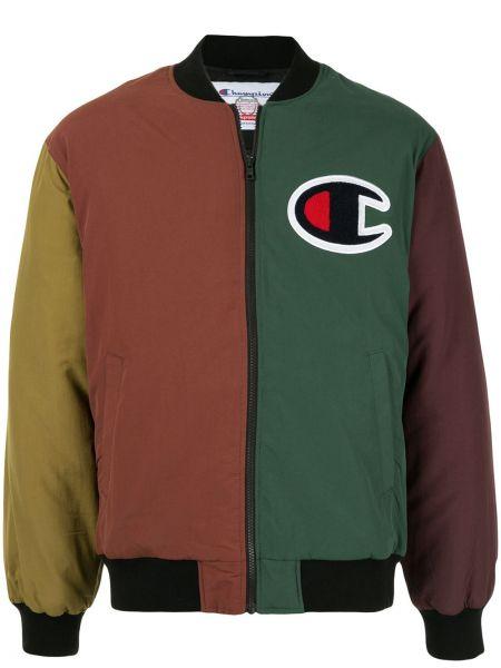 Zielony kurtka dwustronny z kołnierzem Supreme