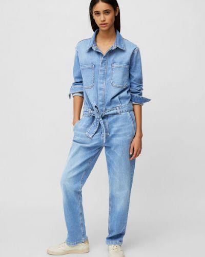 Niebieski kombinezon jeansowy bawełniany Marc O Polo