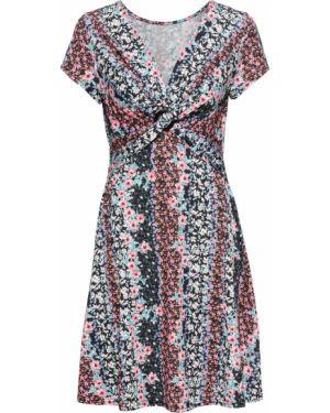 Платье с драпировкой с принтом Bonprix