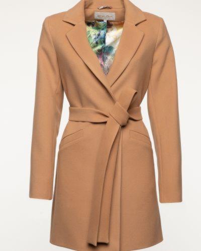 Шерстяное пальто - коричневое Serge Leoni