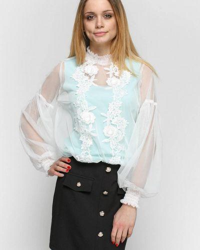 Блузка бирюзовая весенний Zubrytskaya