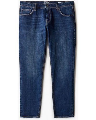 Синие зауженные джинсы-скинни Colin's