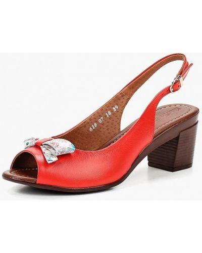 Красные босоножки на каблуке Shoiberg