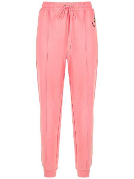 Розовые зауженные спортивные брюки с поясом Markus Lupfer
