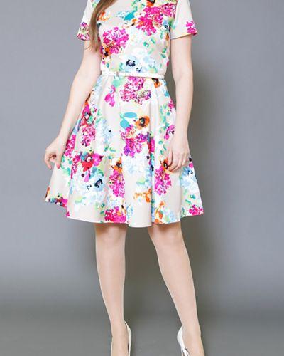 Летнее платье розовое с поясом Lacywear