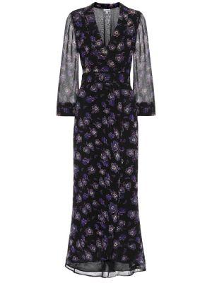 Платье макси с запахом с цветочным принтом Ganni
