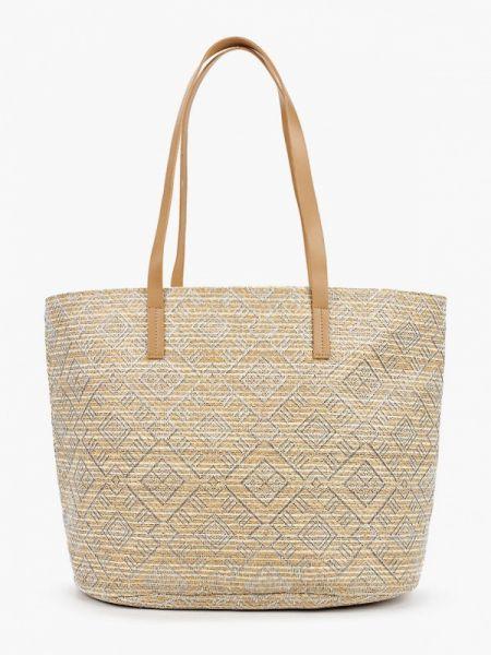 Пляжная сумка бежевый весенний Fabretti