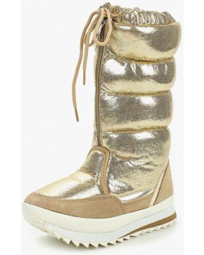 Дутики золотого цвета Evita