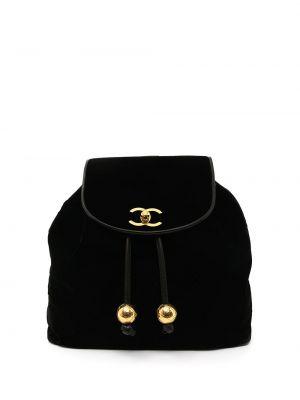 Черный кожаный рюкзак Chanel Pre-owned