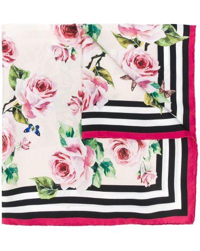 Шарф в полоску с цветочным принтом Dolce & Gabbana