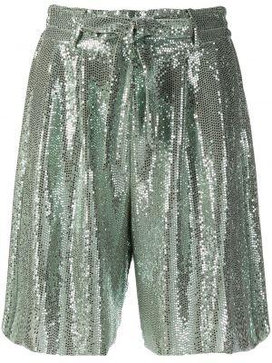 Зеленые свободные шорты с карманами Forte Forte