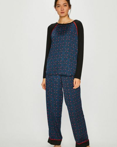 Пижама с брюками однотонная из вискозы Dkny