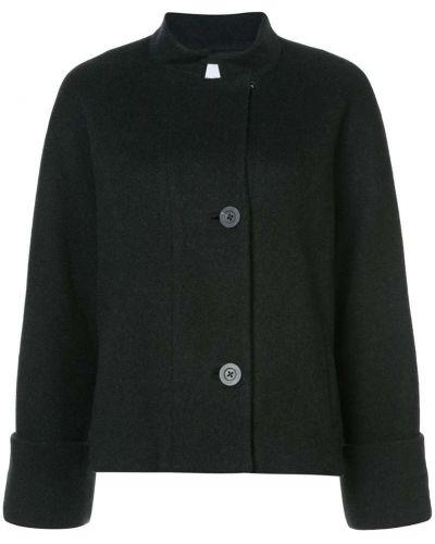 Черное пальто с капюшоном Kimora Lee Simmons