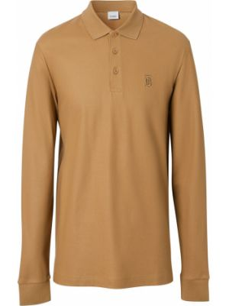 Koszula z długim rękawem z logo prosto Burberry