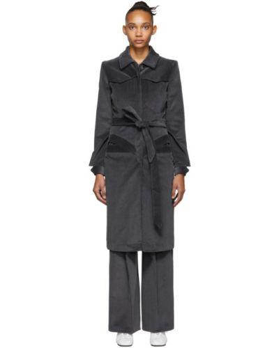 С рукавами коралловое длинное пальто с накладными карманами с воротником Situationist