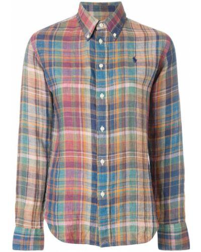 Рубашка в клетку в полоску Polo Ralph Lauren