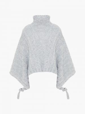 Серебряный ажурный свитер металлический Jw Anderson