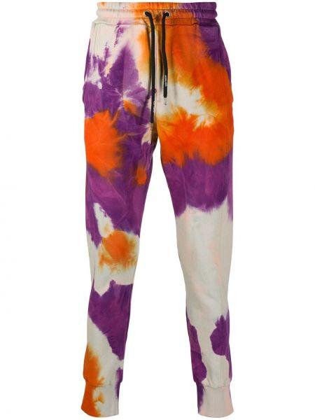 Фиолетовые спортивные брюки с накладными карманами с манжетами с заплатками Mauna Kea