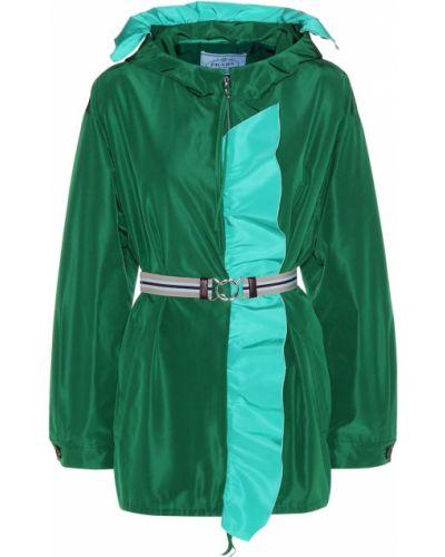 Куртка зеленая Prada