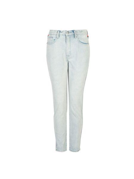 Niebieskie jeansy w paski Juicy Couture