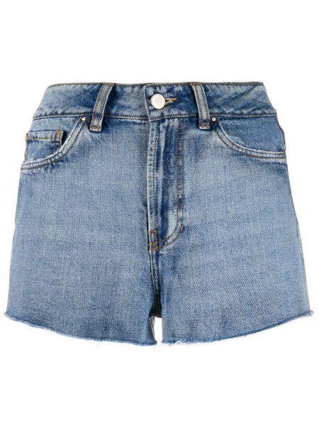 Джинсовые шорты с карманами со стразами на пуговицах Esteban Cortazar