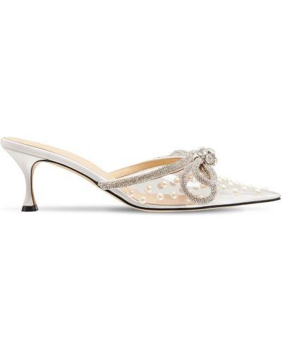 Белые туфли со стразами Mach & Mach