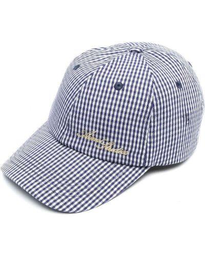 Biała czapka bawełniana z haftem Acne Studios