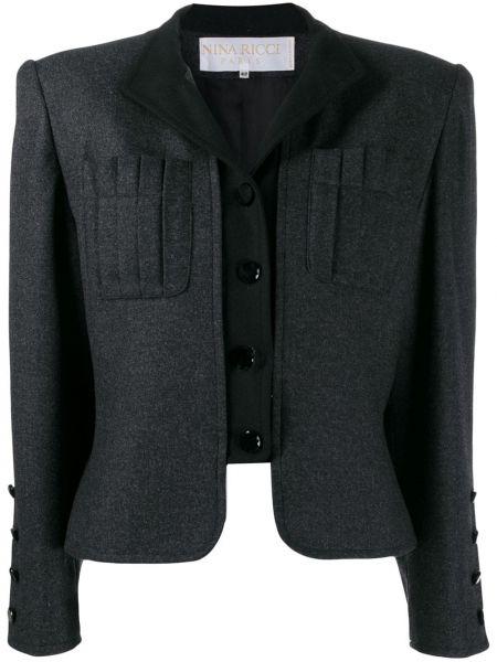 Шерстяной пиджак - серый Nina Ricci Pre-owned