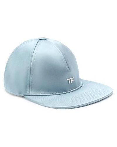 Синяя бейсболка из габардина матовая Tom Ford