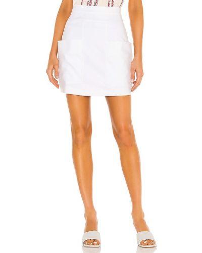 Bawełna bawełna biały spódnica mini z kieszeniami Iorane