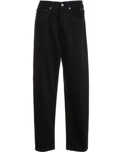 Прямые джинсы с завышенной талией - черные Msgm