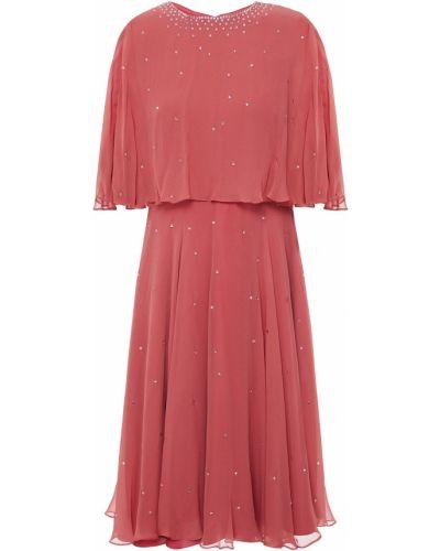 Шелковое платье с подкладкой на крючках Jenny Packham