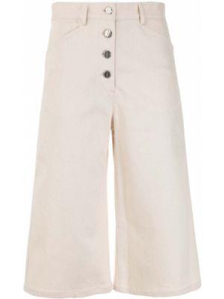 Хлопковые белые шорты с карманами Rosetta Getty