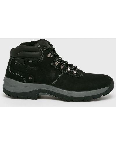 Кожаные ботинки - черные American Club