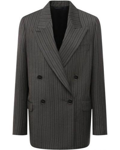 Льняной серый пиджак с подкладкой Acne Studios