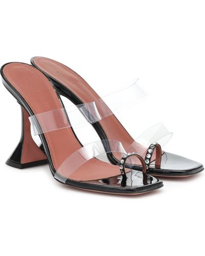 Кожаные черные сандалии Amina Muaddi