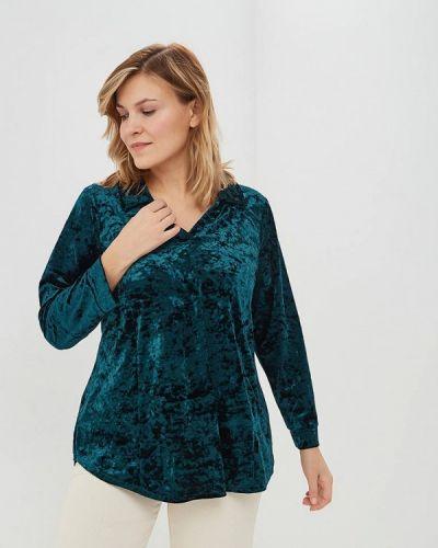 Блузка с длинным рукавом зеленый осенняя Darissa Fashion