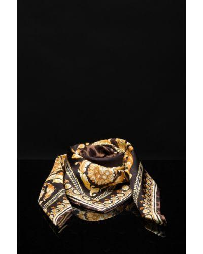 Żółty szalik Versace