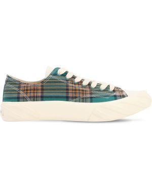Zielone sneakersy sznurowane koronkowe Age - Across To Genuine Era