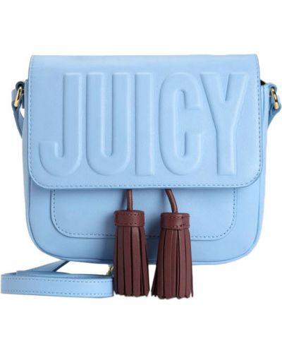 Кожаная сумка с клапаном Juicy Couture