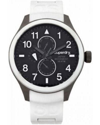 Biały zegarek Superdry