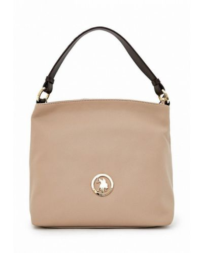 Кожаная сумка - бежевая U.s. Polo Assn.