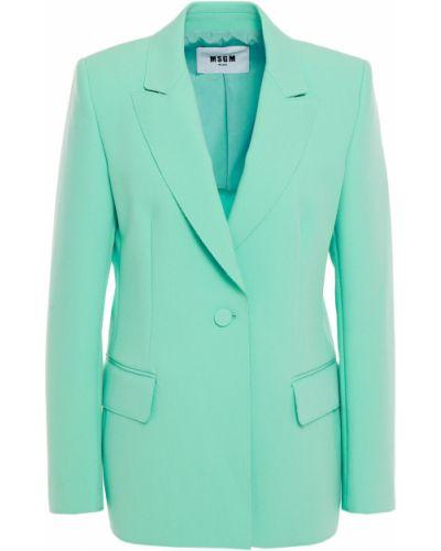 Пиджак с карманами мятный из вискозы Msgm